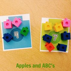 Apples and ABC's: Linking Cubes Math Centers