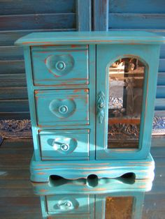 turquoise jewelry box 3 drawers