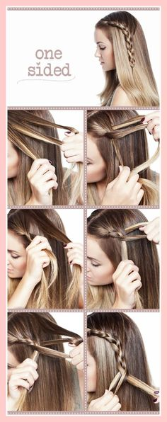 Easy To Make one sided braid hairstyles