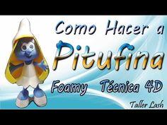 pitufina Foamy 4d (parte 2) - YouTube