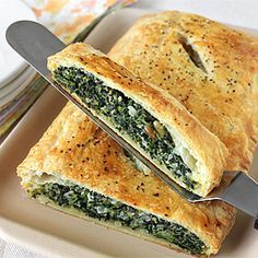 Meatless Monday: Spinach in Puff Pastry... pine nuts, garlic,,, Oh My!