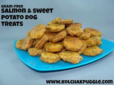 Grain Free Sweet Potato & Salmon Bites Dog Treat Recipe