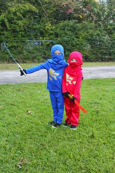 This year for Halloween the girls wanted to be Jay and Kai from Lego Ninjago. I was excited that they didnu0027t want to be Anna or Elsa s. & How to Make a Ninjago Jay Costume | Pinterest | Jay Homemade and ...