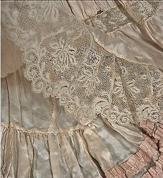 petticoat detail - I love peticoats, wish we could buy such beauties now  -  Ax