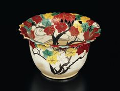 Bowl with openwork and tatsutagawa design, 18th century, H-11.4D-20W9.7 , by Ogata Kenzan | MIHO MUSEUM