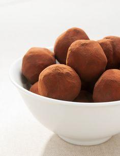 Trufas ligeras de chocolate con Vivesoy