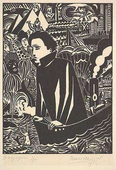The Voyager (Le Voyageur) Frans Masereel 1922