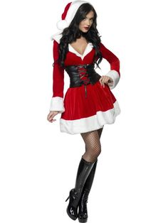 Women Santa costumes also are available in the style of a skater dress and this style has gained a lot of prominences recently.Pick up your style and get ready with all other Santa dress accessories along with your perfectly styles women Santa costume. Elf Clothes, Clothes For Women, Sexy Stiefel, Christmas Fancy Dress, Womens Christmas, Merry Christmas, Costume Sexy, Santa Outfit, Botas Sexy