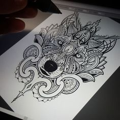 "3,644 Likes, 84 Comments - Coen Mitchell TATTOOGOLD (@coenmitchell) on Instagram: ""Late night design - Mosaic Maori Wolf !  Tattoogoldnz@yahoo.com  #wolf #mosaicflow #newzealand"""
