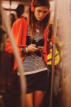 It'd be so fun to do a shoot on a bus or subway!