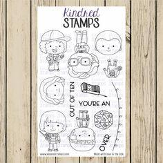 4x6 Strange Friends Clear Stamp Set