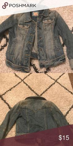 Abercrombie & Fitch Jean Jacket Jean jacket, washed denim Abercrombie & Fitch Jackets & Coats Jean Jackets