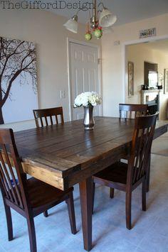 DIY Farmhouse Kitchen Table @ thegifforddesign.com