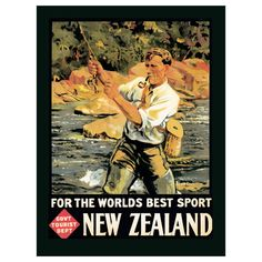 New Zealand Fishing Worlds Best Sport Sign | World Travel Decor | RetroPlanet.com Travel the world with one of our many quality travel signs. New Zealand Worlds Best Sports Sign is a hand-crafted wall sign made of 24-gauge steel. Its rugged outdoor theme makes it a great dad or guy gift.