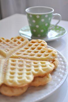 Waffle com canela e açúcar baunilha
