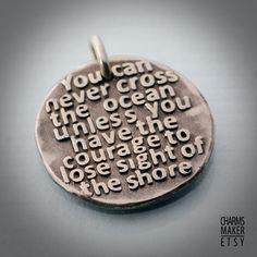 Cross the ocean  020... Gold Inspirational by CustomQuotesMaker, $26.00