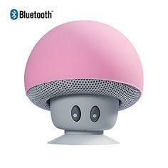 Enceintes Bluetooth Yokkao® Champignon Mini Haute- Parleur Sans Fil Pour Smartphone à Ventouse Pour Baignade TéléPhone De Voiture Tablet PC…