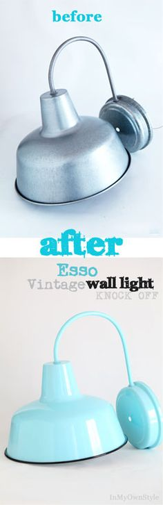 Vintage Industrial Wall Light Knock-Off - In My Own Style
