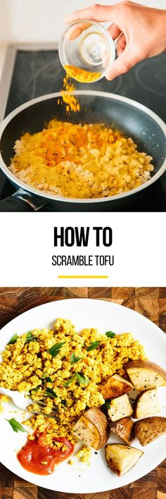Scrambled tofu is the quick, easy, vegan alternative to scrambled eggs. Tofu scramble has a similar texture to scrambled eggs, is just as versatile, and is infinitely customizable. With five ingredients and four simple steps, you can have this EASY dish for breakfast even on the busiest weekdays.