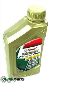 Volkswagen RECOMMENDED 5W-30 Castrol Edge Professional Full Synthetic Motor Oil