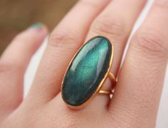 Midnight Blue Labradorite Ring $40