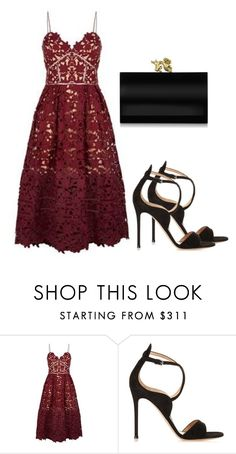 Sem título #2803 by beatrizvilar on Polyvore featuring moda, self-portrait, Gianvito Rossi and Charlotte Olympia