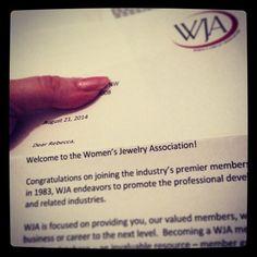 The @womensjewelryassociation and I are now official. #WJADMV #WJA #jewelry | Diamonds in the Library