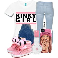 """""""Kinky Gal"""" by renipooh on Polyvore http://globalcouture.net  Hate the shoes, love everything else, yes even pink lol"""
