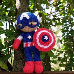 Los mundos de Esthercita: Amigurumi Capitán América