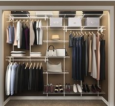 Perfect for the smaller size closets. Instead of shoving everything in on hangers and stacking junk on top of the typical closet shelf, losing all that empty space from top of the shelf to the closet ceiling, this actually gives you an open, neat, organized look and utilizes the entire space without over cluttering the appearance. Great for guest room or teen age sons room.