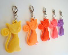 Kitty Zip Clip Charms