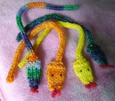 These little wagons....: I-cord snake pattern - knit