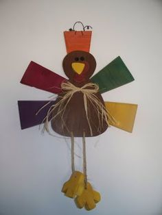 Wood Turkey Door Hanger, Autumn, Fall and Thanksgiving Craft