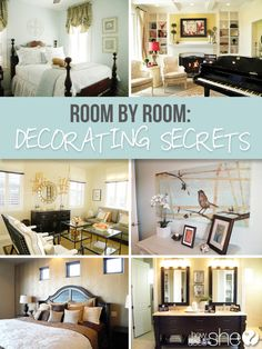 Room by Room: Decorating Secrets  howdoesshe.com  #diybedroom #bedroom #decorating