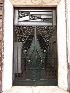 https://flic.kr/p/9v2ZZr | Wrought Iron Door, Casablanca