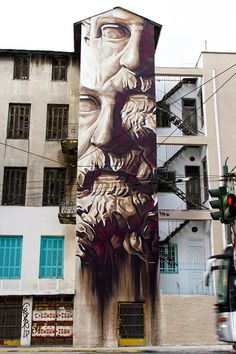 New work by Ino in Athens. Epic. More pics at http://globalstreetart.com/ino.
