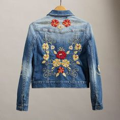 Embroidered jean jackets!