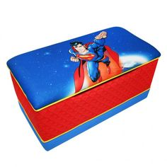 Take a look at this Warner Brothers Superman Toy Box by Newco on today! Superman Room, Superman Baby, Superhero Room, Superman Stuff, Christmas Dyi Crafts, Best Christmas Toys, Kid Toy Storage, Storage Chest, Toy Rooms