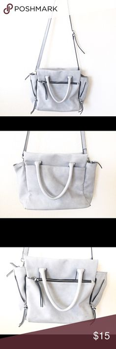 e844271f49 Light Gray Merona Purse Pretty leather-like handbag with lots of space!  Sold from