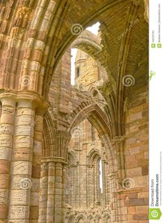 Whitby Abbey Ruin, Yorkshire, Uk. Stock Image - Image of abbey, archaeology: 104707701