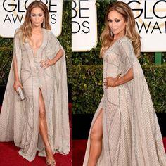 Jennifer Lopez Zuhair Murad ruhában a Golden Globe-on.