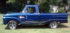 ford trucks old Classic Ford Trucks, Old Pickup Trucks, Lifted Ford Trucks, Chevy Trucks, F100 Truck, Truck Drivers, Ford Diesel, Diesel Trucks, 1965 Ford F100