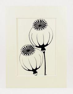 capsules de pavot - café frais Graphic Prints, Art Prints, Casa Loft, Art Nouveau Flowers, Flower Doodles, Bedroom Art, Patterns In Nature, Tampons, Linocut Prints
