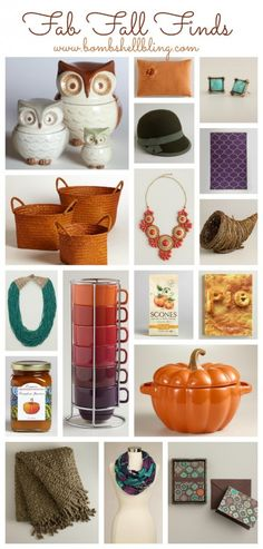 Fab Fall Finds from Cost Plus World Market via Bombshell Bling >> #WorldMarket Fall Harvest #Decor #Home