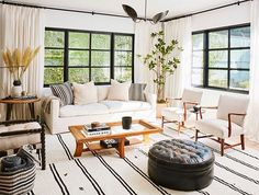 Aaaand another gorgeous room in @katherinepowers  home.  Want to see our take on this striking den? Like it to vote!  by @justincoit from @mydomaine #CopyCatChic