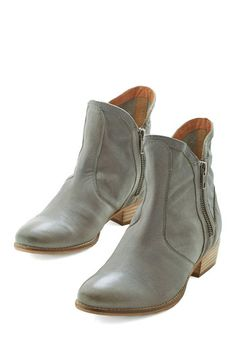 Lucky Penny Boot in River Rock by Seychelles - Low, Leather, Best, Ankle, Grey, Solid, Exposed zipper, Variation, Festival, Boho