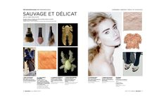 INSPRIATION Fall Winter 2016/2017 Sauvage + Délicat - Opposites - Feathers  Peclers Paris