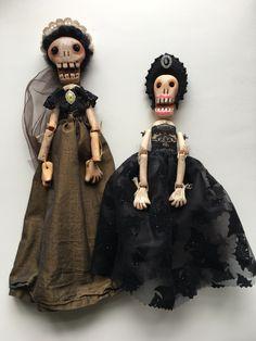 Skelly art dolls - yoborobo on Etsy