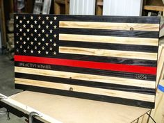 Hand-Crafted, Wood American Flags by KnottyPineFlags Hidden Gun Cabinets, American Flag Art, Wooden Flag, Firefighters, Pallets, Experiment, Flags, Room Ideas, Etsy Seller