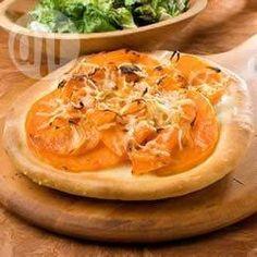 Pizza de calabaza y romero
